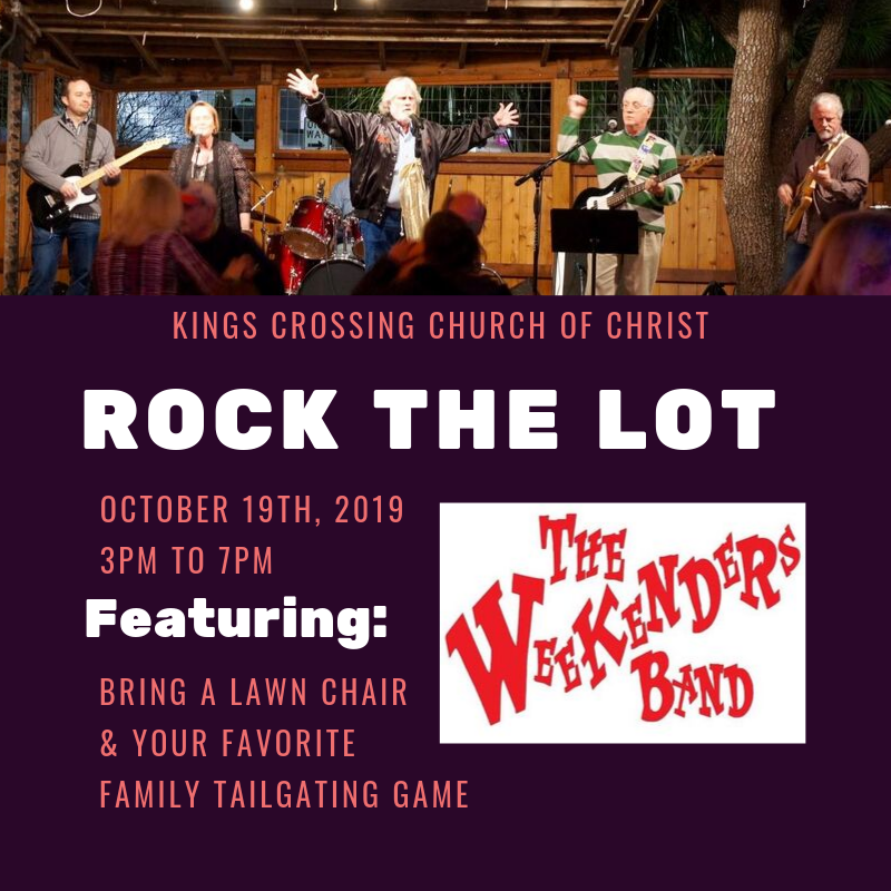 rock the lot the weekenders band flyer